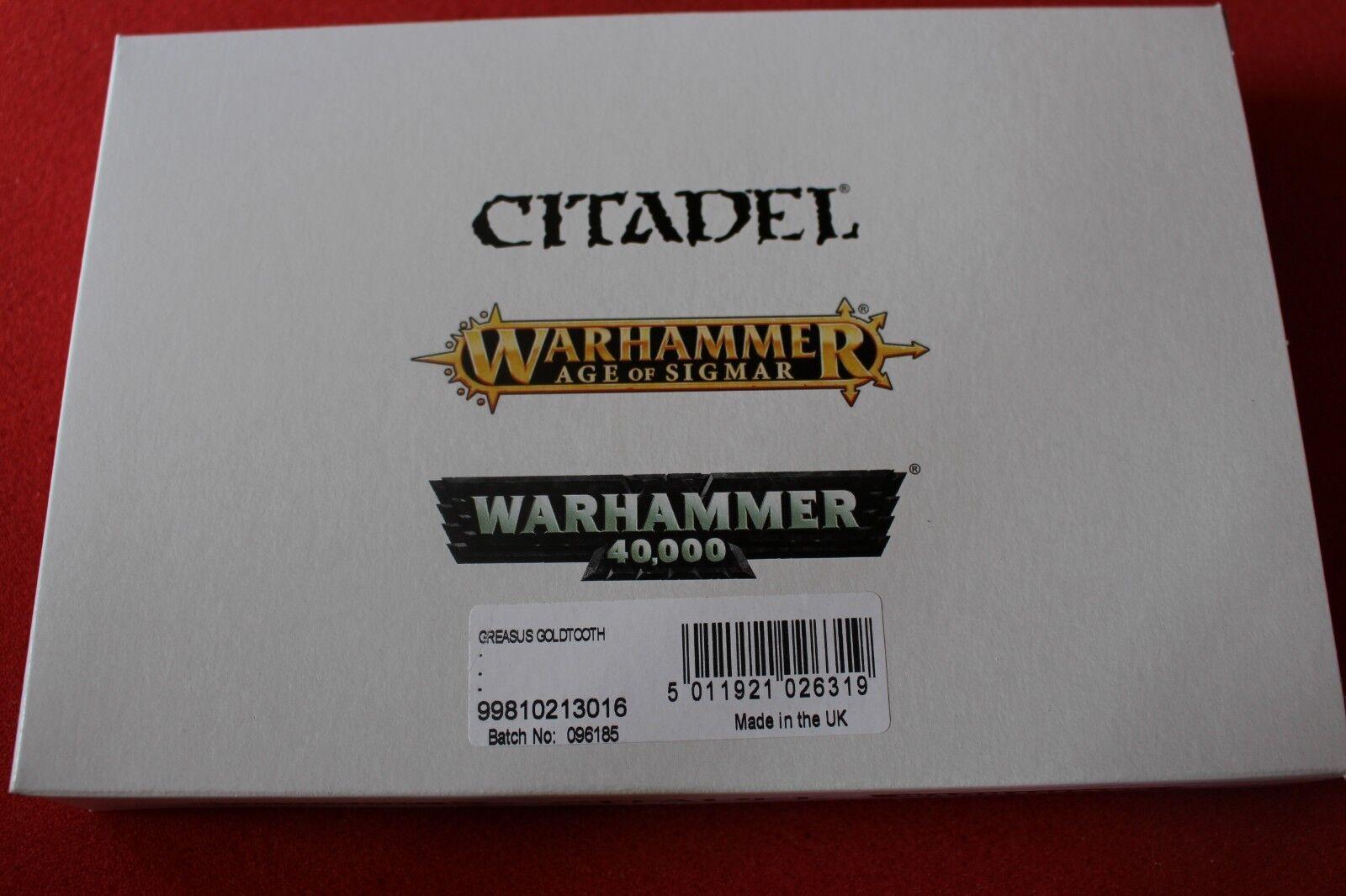 Spel arbetarhop Warhammer Ogre kungariken Greasus guldtooth NIB New Finecast OOP GW