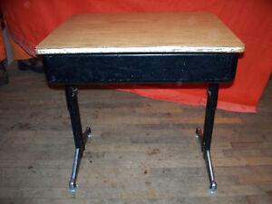 Image Is Loading Antique Or Vintage Black Fliptop School Desk W