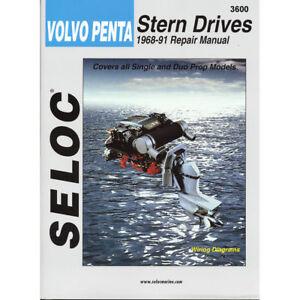 Seloc Marine Shop Repair Manual #3600 Volvo Penta Stern Drives 1968-1991