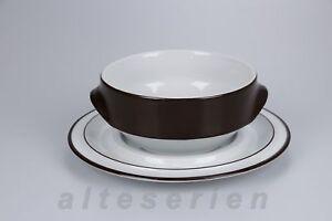 Tasse de soupe avec inférieure miropa Langenthal suisse Aristo Marron Classic