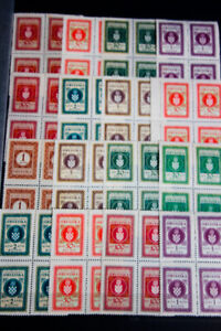 Croatia-Revenue-Stamps-Early-Mostly-Mint-on-Stock-Pages-Rare