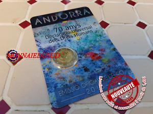 2-Euro-CC-Coincard-BU-Andorre-2018-Anniversaire-Droits-de-l-039-Homme-NEUVE