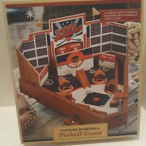 Baseball-Pinball-Game-Table-Top-Wooden-American-Vintage-Style-New-Open-Box