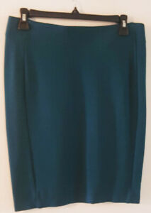Pre-Owned-Women-s-Teal-INC-International-Concepts-Skirt-Size-M