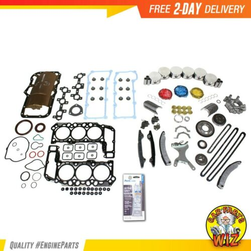 Engine Rebuild Kit Fits 0203 Dodge Jeep Liberty Ram 1500 3.7L V6 SOHC 12v