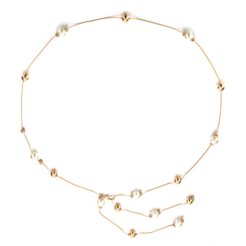 Women Rhinestone Pearl Beads Metal Waist Belt Adjustable for Girls Dresses Gowns