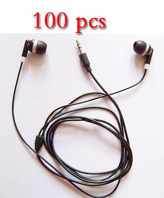 Wholesale 100pcs / lot 3.5mm in-ear Earphone Earbuds Headphone For mp3 ipod pc