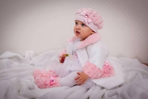 Prinzessin TRAUMHAFTES  Mütze HUT Fellmütze rosa
