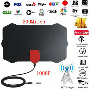 1080P-4K-Thin-Freeview-digital-interior-Antena-HDTV-aerea-Alcance-de-200-millas