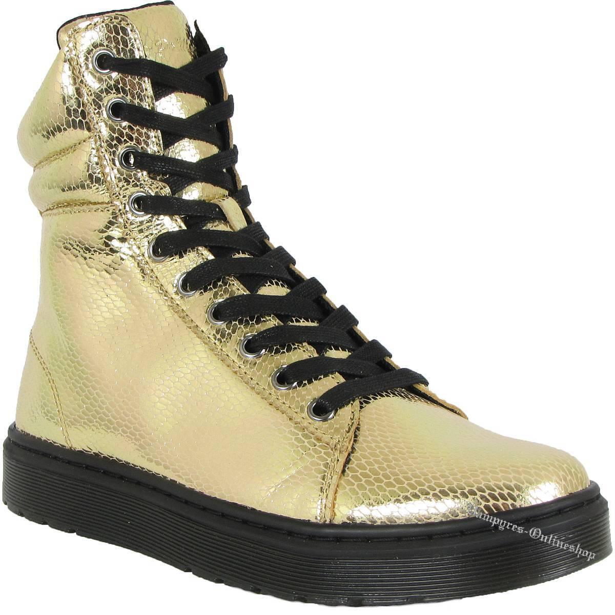 Dr. Martens Snake 10-Loch Mix Mini Metallic Snake Martens Oro 15319710 Docs Sneaker Air Wair 20ea03