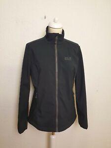 Details zu Jack Wolfskin Damen Outdoor Jacke schwarz windbreaker Gr. 40 L A21