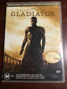 GLADIATOR-Russell-Crowe-Deluxe-Collector-s-Edition-Good-Condition-2-DVDs-R4-PAL