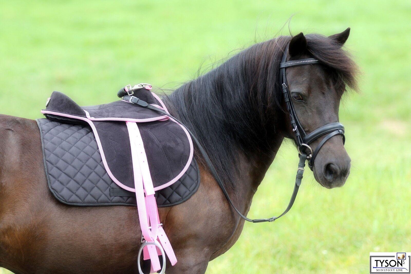 Sattel black pink LEICHT 8 10 12 Z Minishetty Mini Shetty Falabella Holzpferd