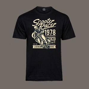 T-Shirt-Scooter-Racer-Roller-Mod-60s-Scooterboys-Soul-Ska-Rude-black-S-5XL