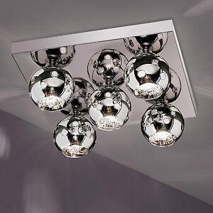 Wofi-Deckenleuchte-Empire-5-flg-Chrom-Glas-Kugel-42x42-cm-Lampe-G9-Fassung-Licht