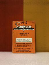 Simpson 260 Series 7p Amp 7pm Volt Ohm Milliammeters Operators Manual