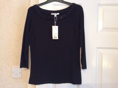 Bnwt Bennett k Blend Small Black Top Sequinned Silk L Womens rq6TOr