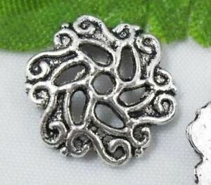 wholesale 52//178Pcs Silver Plated  Bead Caps 12.5mm (Lead-Free)