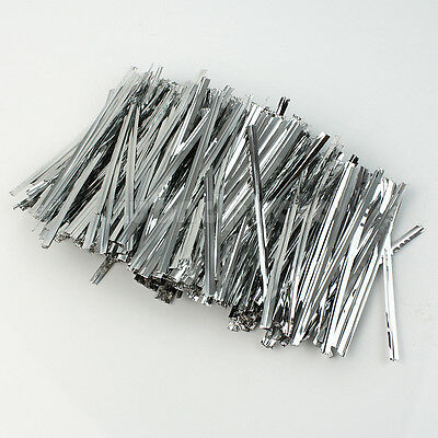 800x 8CM Metallic Twist Ties For Cake Pops Kit Sealing Cello Bags Lollipops Pack