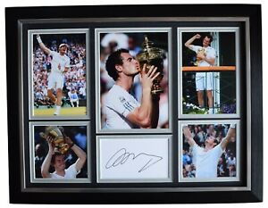 Andy Murray Signed Autograph framed 16x12 photo display Wimbledon Tennis AFTAL