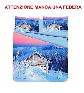 Copripiumino 200 X 250.Golden Home Parure Copripiumino Baita Montagna Neve Matrimoniale