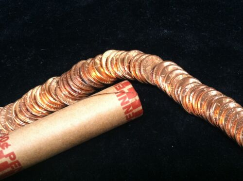 1961 D mint  UNCIRCULATED  LINCOLN CENT UNOPENED BANK WRAPPED ROLL