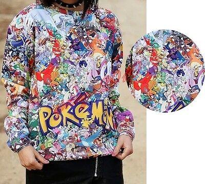 Fashion pokemon Pikachu Cartoon Blends Costume Sweatshirt Jacket Thin Coat D0483