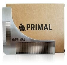 Beard Template Comb for Shaping & Styling by Primal Stainless Steel Shaper Tool