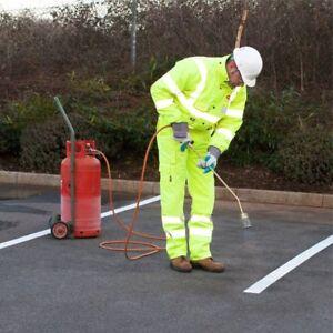 HonnêTe Jaune Road Line Marking Parking Line 5 M X 100 Mm Large Super Réfléchissant Torche-sur-afficher Le Titre D'origine Acheter Un Donner Un