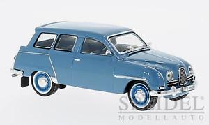 Maravilloso MODELCAR Saab 95 Wagon 1960-azulgris-escala 1 43 - Ed. Ed. Ed. Lim. 1a6747