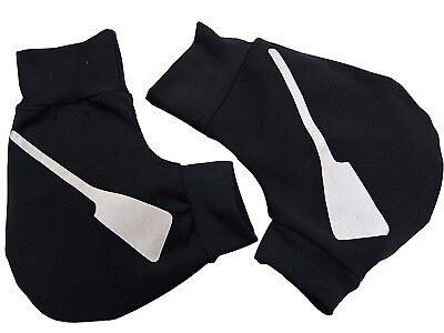 Rudern Ruderhandschuhe Schwarz Handschuhe schwarz//royal Rowing Aufdruck