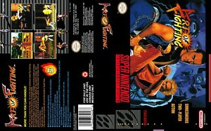 Art Of Fighting Super Snes Replacement Box Art Case Insert Cover Only Ebay