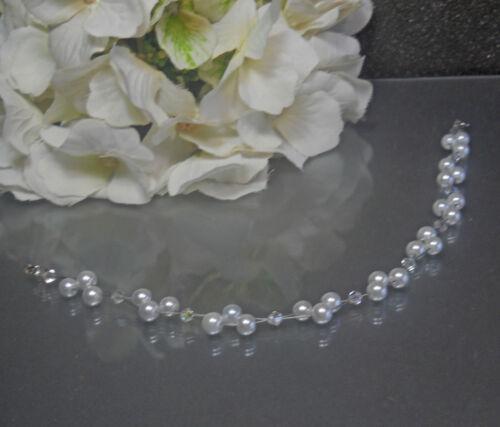 Haarschmuck & Tiaras Zarter  Perlen Haarschmuck weiß Brautschmuck Diadem  Tiara NEU Hochzeitsschmuck