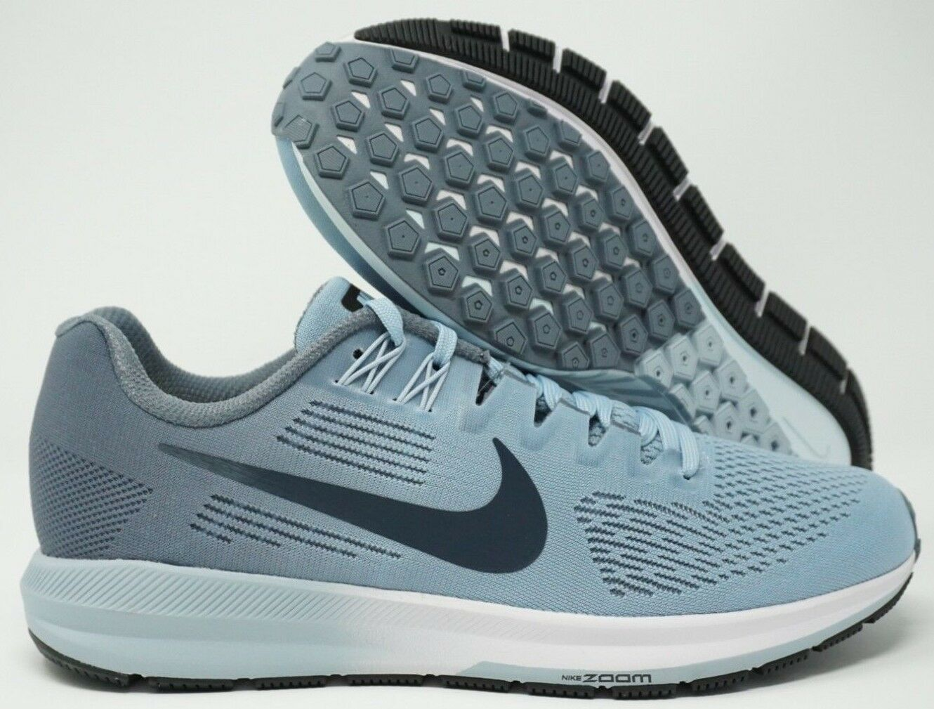 Womens Nike Air Zoom Structure 21 Running Shoes Armory Blue 904701-400 Size 9.5