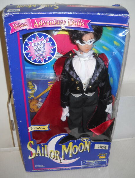 #1177 NRFB Irwin Sailor Moon Deluxe Adventure Doll - Tuxedo Mask w/Cassette