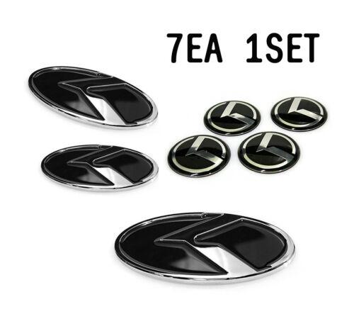 K Logo EMBLEM SET Hood Trunk Wheel cap Horn For KIA Optima K5 2011 2015