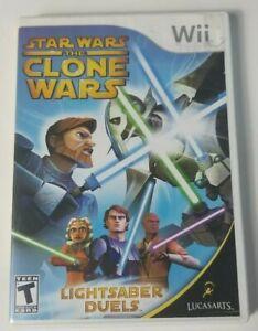 Star Wars The Clone Wars Wii Lightsaber Duels Game 2008 LUCASARTS