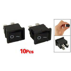 10Pcs 4 Pin On-Off 2 Position DPST Boat Rocker Switches 10A/125V 6A/250V AC Y5L5
