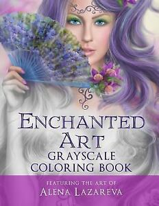 Details About Lazareva Alena Enchanted Art Grayscale Color Book New