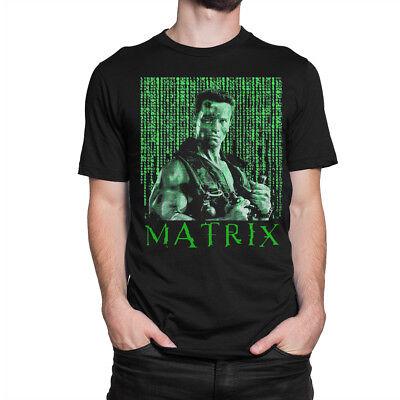 New Commando Arnold Schwarzenegger Action Movie Men/'s Black T-Shirt Size S-3XL