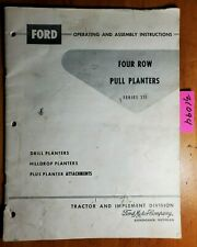 Ford Series 311 Four Row Pull Planter Owners Operators Manual Se 8323 361