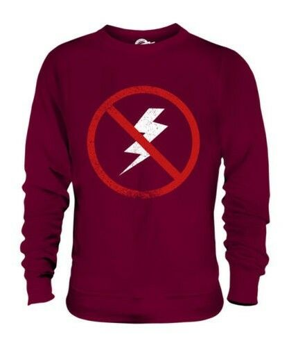 ASTRAPHOBIA (FEAR OF LIGHTENING) UNISEX SWEATER TOP GIFT PHOBIA SCAROT