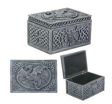 Dragon Celtic Jewelry Box Statue Sculpture Figurine - WE SHIP WORLDWIDE
