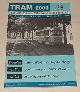TRAM-2000-N-156-Aout-1995-TRAMWAY-AUTOBUS-STIB-TROLLEYBUS-Images-du-passe