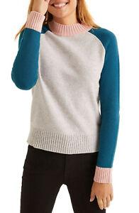 BODEN  Damen Strick Pullover- Flora Jumper Sweater M Farbblock