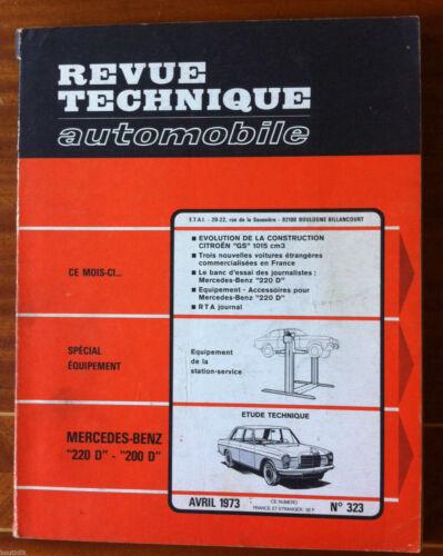 200 D RTA du 4//1973; Mercedes-Benz 220 D Spécial Equipement