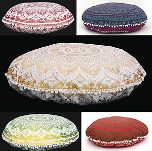 LARGE-SELECTION-32-034-INDIAN-OMBRE-MANDALA-FLOOR-PILLOW-CUSHION-SEATING-COVER