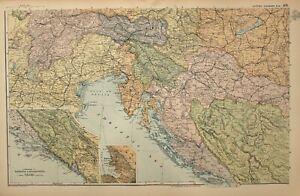 1908-MAP-SOUTH-WEST-AUSTRIA-HUNGARY-DALMATIA-HERZEGOVINA-TRIEST-BOSNIA