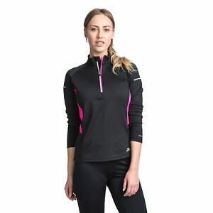 Trespass Womens Long Sleeve 1/2 Zip Pullover Gym Top Active Workout Persin Ii