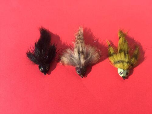 Sculpin hemlet fly 9- Streamer fly fishing trout bass sculpin fish skull